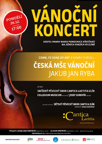 Vánoční koncert Rybovka, Purcell 2016